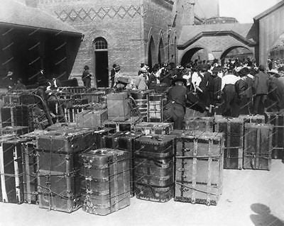 Luggage & Various Vintage Trunks Vintage 8x10 Reprint Of Old Photo - Photoseeum