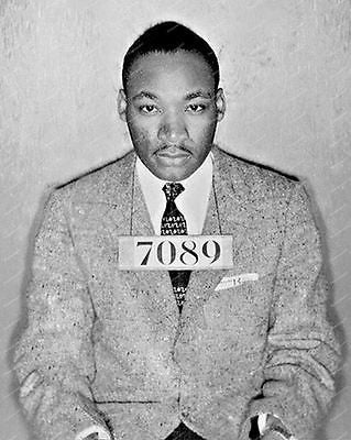 Martin Luther King Polce Mug Shot Vintage 8x10 Reprint Of Old Photo