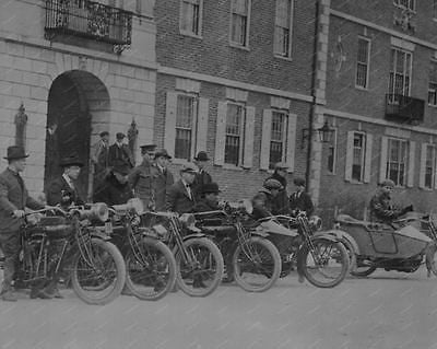 Military Motorcycle Squad Vintage 8x10 Reprint Of Old Photo