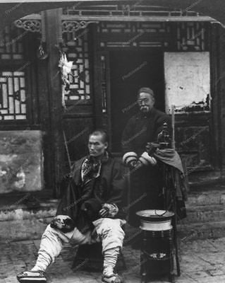 Peking Barber Haircut 1919 Vintage 8x10 Reprint Of Old Photo