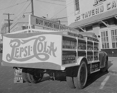 Pepsi Cola Soda Truck 1943 8x10 Reprint Of Old Photo