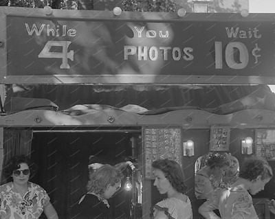 Photo Booth While U Wait 1938 Vintage 8x10 Reprint Of Old Photo