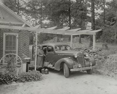 Road Trip luggage 1938 Vintage 8x10 Reprint Of Old Photo - Photoseeum