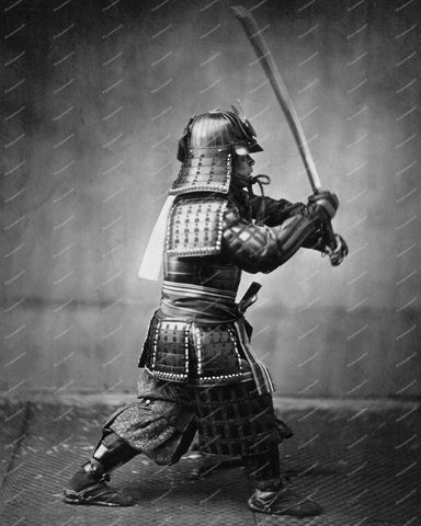 Samurai With Sword 1860 Vintage 8x10 Reprint Of Old Photo