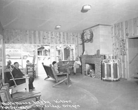 Seeburg Jukebox Bathhouse Lobby Oregon Vintage 8x10 Reprint Of Old Photo