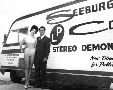 Seeburg Jukebox Stero Demonstration Bus Vintage 8x10 Reprint Of Old Photo