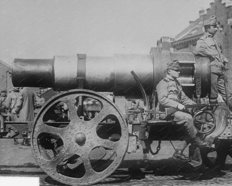 Skoda 305mm Model 1911 Howitzer Gun 1914 Vintage 8x10 Reprint Of Old Photo