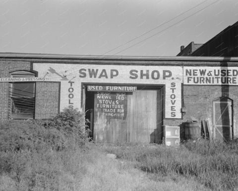 Swap Shop Abandoned 1939 Vintage 8x10 Reprint Of Old Photo - Photoseeum