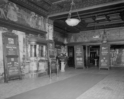 Theatre Lobby Vintage 8x10 Reprint Of Old Photo