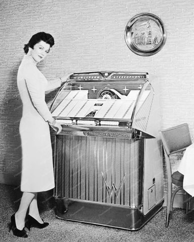 Wurlitzer Jukebox Model 2300 Vintage 8x10 Reprint Of Old Photo 1
