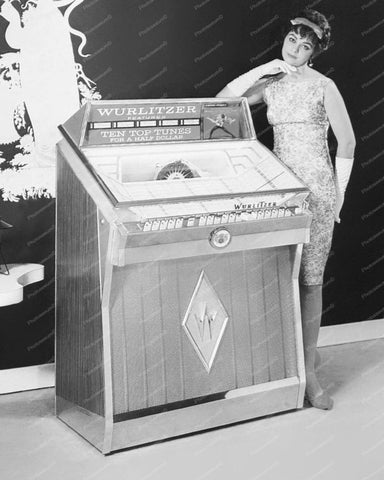 Wurlitzer Jukebox Model 2600 Vintage 8x10 Reprint Of Old Photo