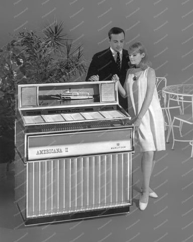 Wurlitzer Jukebox Model 3200 Americana 1968 Vintage 8x10 Reprint Of Old Photo