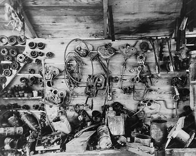 Automobile Parts At Junk Yard 1938 Vintage 8x10 Reprint Of Old Photo - Photoseeum