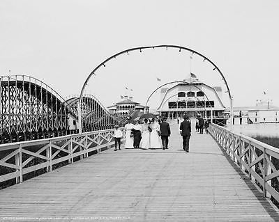 Boardwalk Casino Toledo Ohio 1910 Vintage 8x10 Reprint Of Old Photo - Photoseeum