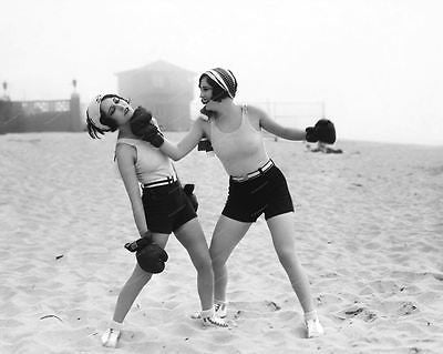 Boxing On The Beach 1920s Vintage 8x10 Reprint Of Old Photo - Photoseeum