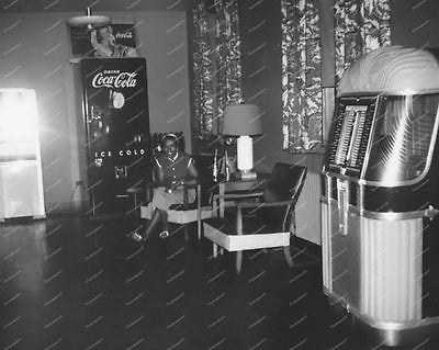 Coca-Cola Vending Machine & AMI-B Jukebox Vintage 8x10 Reprint Of Old Photo