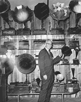 Collection of Edison Tulip Horned Phonographs Vintage 8x10 Reprint Of Old Photo