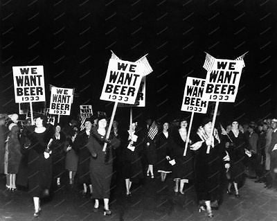 Ladies We Want Beer 1933 March Vintage 8x10 Reprint Of Old Photo