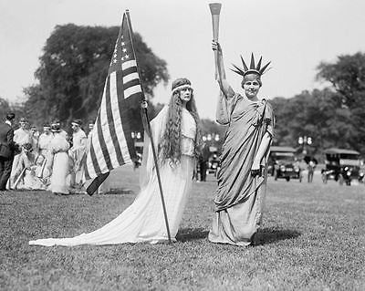 Liberty Dance Costumes 8x10 Reprint Of Old Photo
