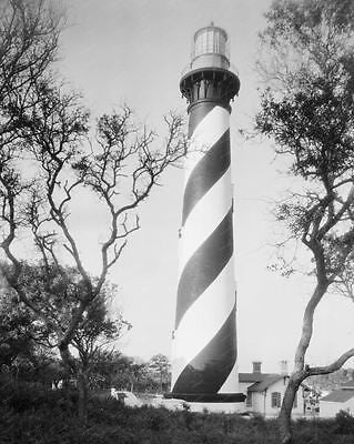 Lighthouse Florida 1937 8x10 Reprint Of Old Photo - Photoseeum