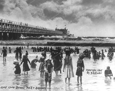Long Beach Pier 1905 Vintage 8x10 Reprint Of Old Photo