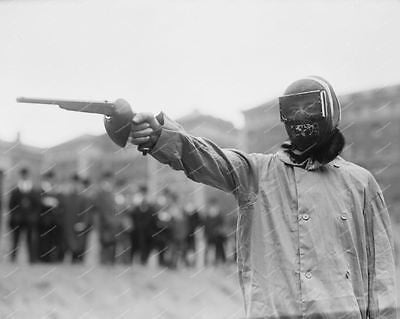 Man Wearing Gear For Duelling Pistol Vintage 8x10 Reprint Of Old Photo