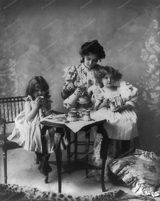Mother And Children 1898 Vintage 8x10 Reprint Of Old Photo
