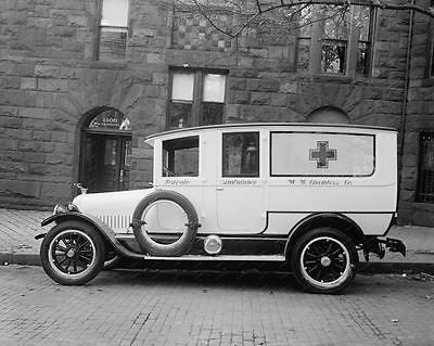 Private Ambulance WW Chambers 1920s Vintage 8x10 Reprint Of Old Photo