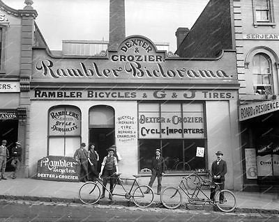 Rambler Biclorama Bicycle Shop Vintage 8x10 Reprint Of Old Photo