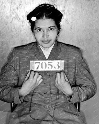 Rosa Parks Police Mug Shot Vintage 8x10 Reprint Of Old Photos