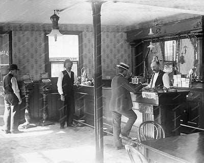 Saloon With 2 Standup Cast Iron Slot Machines 1890s 8x10 Reprint Of Old Photo