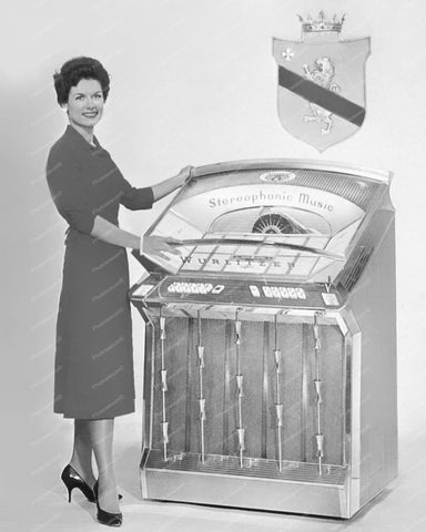 Wurlitzer Jukebox Model 2510 Vintage 8x10 Reprint Of Old Photo
