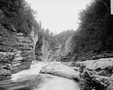 Ausabl Chasm Split Rock NY Vintage 8x10 Reprint Of Old Photo