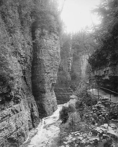 Ausable Chasm NY Vintage 8x10 Reprint Of Old Photo