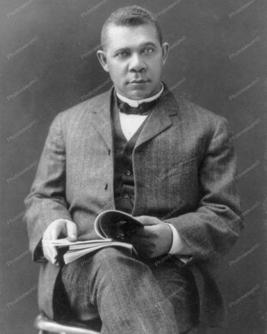 Booker T Washington Vintage 8x10 Reprint Of Old Photo 1