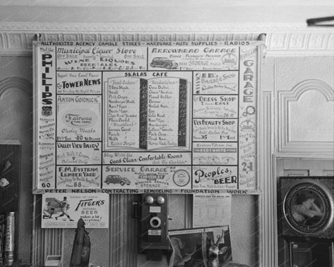 Bulletin Advertising Board 1937 Vintage 8x10 Reprint Of Old Photo