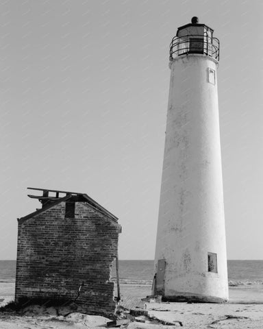 Cape St George Lighthouse Franklin County Vintage 8x10 Reprint Of Old Photo 2 - Photoseeum