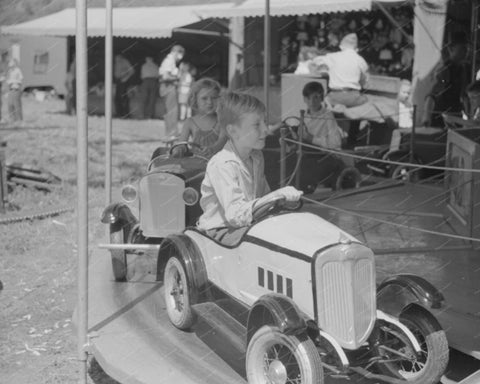 Car Carousel 1941 8x10 Reprint Of Old Photo