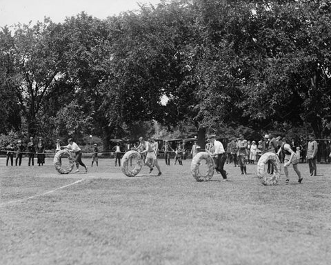 Doughnut Tube Race 1922 Vintage 8x10 Reprint Of Old Photo