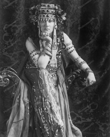 Egyptian Costume 1902 Vintage 8x10 Reprint Of Old Photo