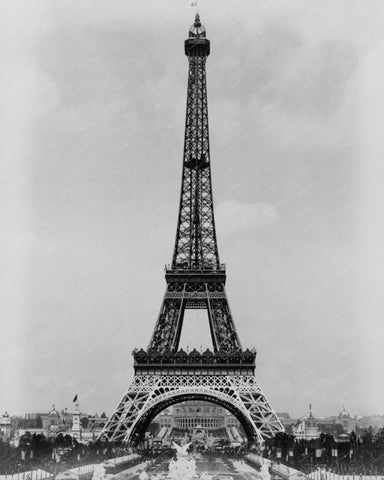 Eiffel Tower Paris Exposition 1889 Vintage 8x10 Reprint Of Old Photo 1