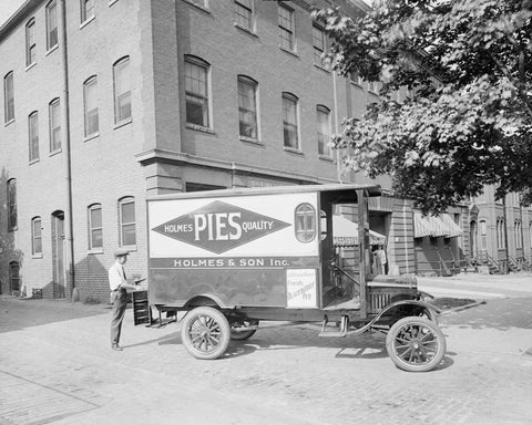 Ford Holmes Pies Truck1930s Vintage 8x10 Reprint Of Old Photo