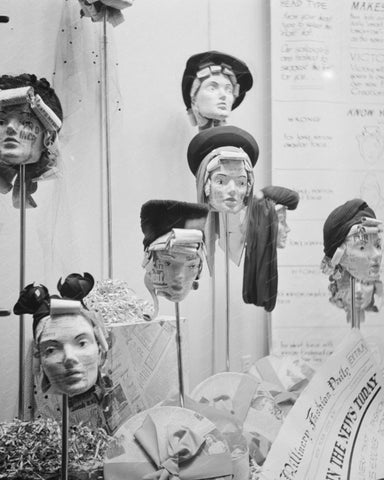 Hat Window Display1941 8x10 Reprint Of Old Photo