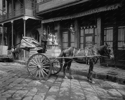 Havana Milk Cart Vintage 8x10 Reprint Of Old Photo