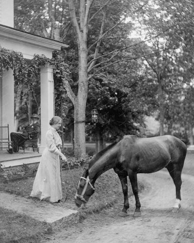 Helen Keller With Horse 1907 Vintage 8x10 Reprint Of Old Photo - Photoseeum