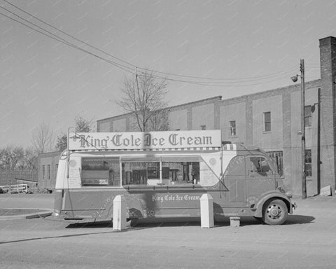 King Cole Ice Cream Truck 8x10 Reprint Of Old Photo