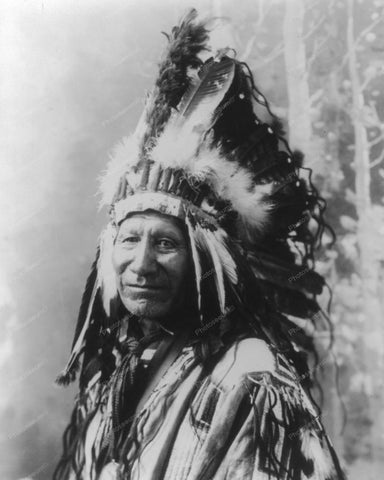 Oglala Sioux Chief 1900 Vintage 8x10 Reprint Of Old Photo