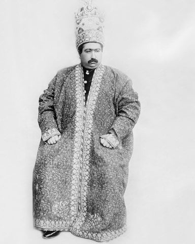 Shah of Persia Mohammed Ali Mirzi 1907 Vintage 8x10 Reprint Of Old Photo - Photoseeum