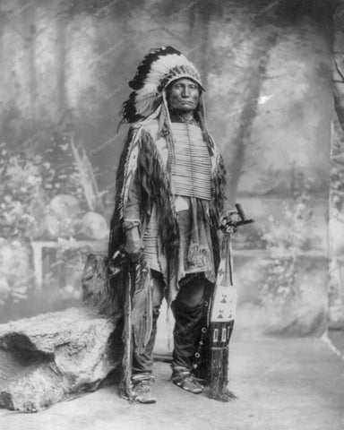 Sioux Indian 1899 Vintage 8x10 Reprint Of Old Photo