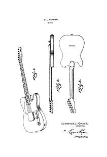 Guitar Patents CD Collection of 11 Different Fender Guitar Art Prints